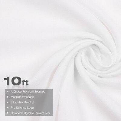 10Ft x 10Ft White Backdrop Lusana Studio Photography Washable Photo Background