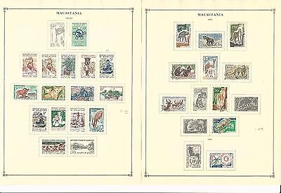 Mauritania Collection 1960-1965 on 7 Scott International Pages (Stuck To Pages)