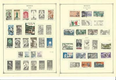 Mexico Collection 1960-1963 on 6 Scott International Pages