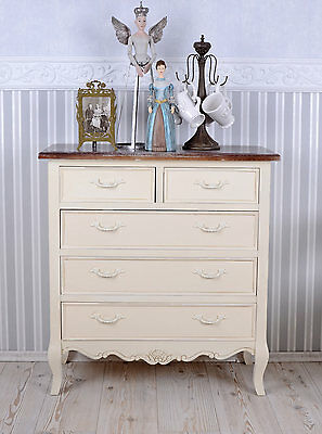 Vintage Dresser Shabby Chic Bedside Table Drawers drawers