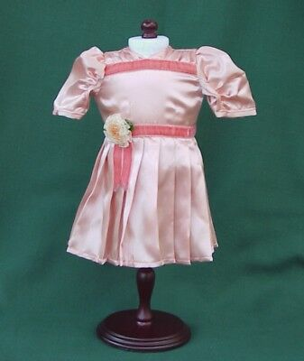 American Girl MOLLY Retired LOVELY PEACH SATIN RECITAL OUTFIT REPRODUCTION