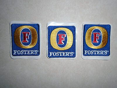 New Fosters Lager Australia Brewery Collectors Oil Can Beer Patch Set 3 Patches