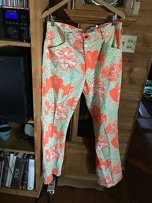 Vintage MENS LILLy PULITZER Golf Pants 34 Palm BEach  orange tiger lilies