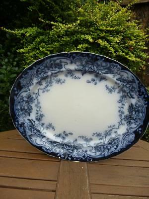 Keeling Co Chatsworth Losol Ware Art Nouveau Large Platter Late Mayers Flow Blue