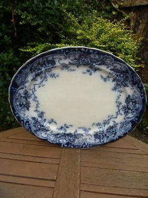 Keeling Co Chatsworth Losol Ware Art Nouveau Huge Platter Late Mayers Flow Blue