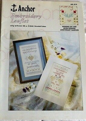 Anchor Embroidery Leaflet*hardanger*wedding/anniversary Sampler*