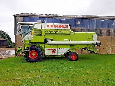 Claas Dominator 96 Combine Harvester class 15' header with trolley trailer