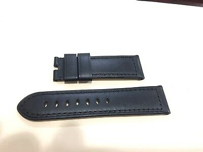 Officine Panerai Calf Strap Rugby Black 24mm x 22mm Brand New Tang Buckle