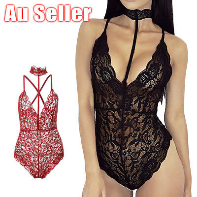 Women Sexy-Lingerie Nightwear Sleepwear Dress Bodysuit Lace G-string Underwear