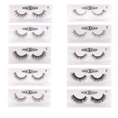 Women's Natural Thick False Fake Eyelashes Eye Lashes Makeup Extension Faux cils