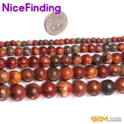 """Natural Round Mix Color Picasso Jasper Loose Stone Beads For Jewelry Making 15"""""""