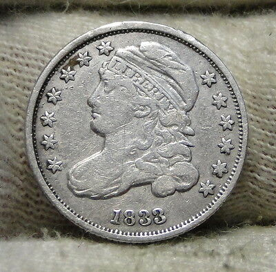 1833 Capped Bust Dime 10 Cents - Nice Coin, Free Shipping  (5764)
