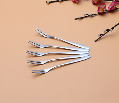5PCS 13cm Environmental Creative Small Fruit Fork Cake Foork Stainless Steel