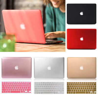 """Rubberized Metallic Painting Hard Case+KB For Macbook Pro Air 11 13""""15"""" Retina"""