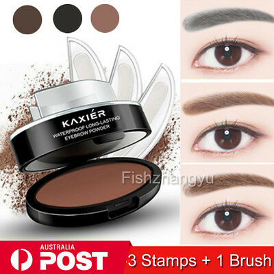 NEW 3 In1 Natural Eyebrow Powder Stamp Makeup Brow Delicated Shadow Definition