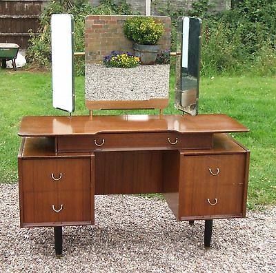 Vintage 1950's/60's G-Plan E.Gomme Dressing Table ~ with Triple Mirror & Drawers