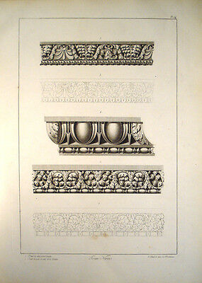 c1800 Architecture Ornamental Architrave Entablature Nervaforum Rome Lg Format
