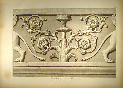 c1800 Ornament Architektur Ancient Frieze Forum Romanum manière de crayon Gr