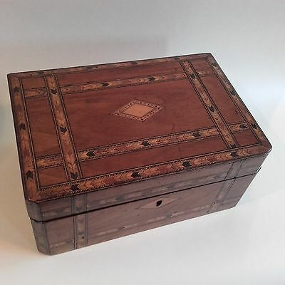 A Pretty Antique Inlaid Sewing Box ~ Marquetry