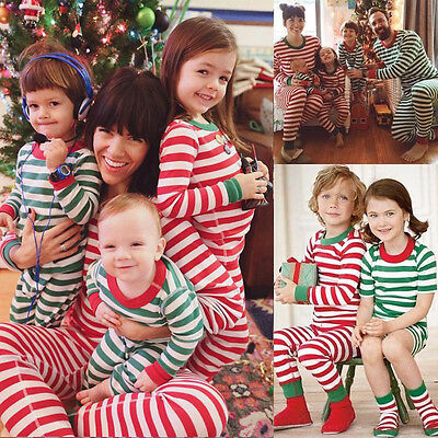 XMAS Family Matching Women Kids Sleepwear Nightwear Pajamas Set Pyjamas US Stock