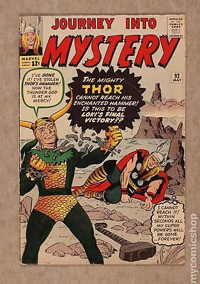 Thor (1962-1996 1st Series Journey Into Mystery) #92 VG- 3.5