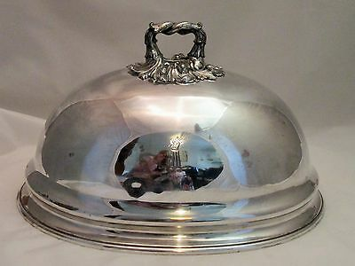 A Fine Old Sheffield Plate Meat Dome - c1820 - Roberts Smith & Co - Crested