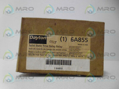 Dayton 6A855 Time Delay Relay *new In Box*