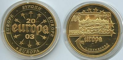 GY008 - Medaille Portugal Luxemburg 2003 verg. Luxembourg