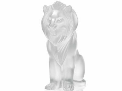 Lalique #1165600 Bamara Lion Sculpture Brand New In Box Clear Crystal Save$ F/sh