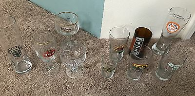 LOT 10 NEW & OLD Beer Craft Brewery Collectible Glasses Glassware ALL Sizes!!