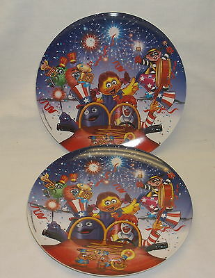 McDONALD COLLECTOR PLATES HAPPY NEW YEAR 2 PLATES
