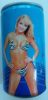 Vtg 1985 Bikini Cola Solda Can Empty Ginger Miller Penthouse Pet of Year 1989