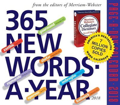 365 New Words-A-Year Page-A-Day Calendar 2018 by Merriam-Webster 9780761193869