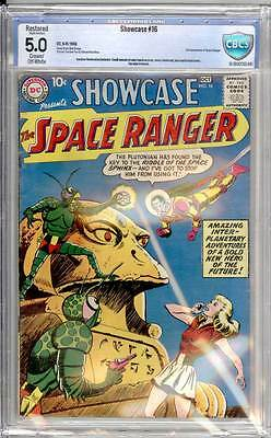 Showcase # 16  2nd app.of Rick Starr, the Space Ranger !  CBCS 5.0 scarce book !