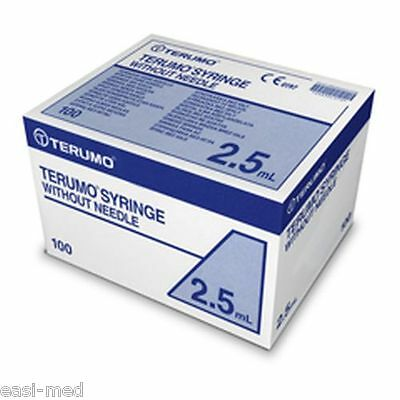 2.5ml Terumo Sterile Syringe 100 box - Good use-by dates