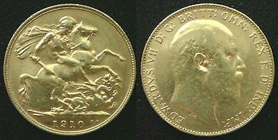 1910 King Edward VII Full Gold Sovereign.PS#3 FREE UK POST SPECIAL DELIVERY