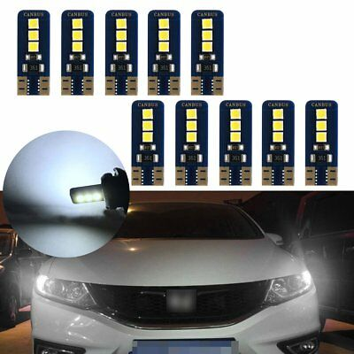 10x T10 3030 W5W 194 168 6SMD LED Canbus Error Free Side Wedge Light Lamp Bulbs