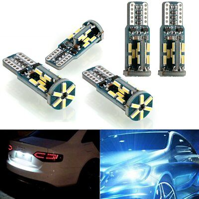 5X T10 4014 30-SMD Super White 192 168 194 501 W5W LED Car Side Wedge Light Bulb