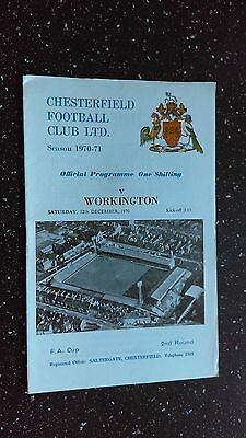 Chesterfield V Workington 1970-71
