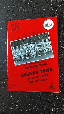 Kettering Town V Halifax Town 1988-89