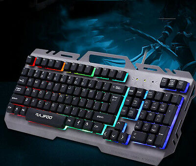 Professional Computer Gaming Keyboard and Mouse Set LED Backlight Wired Keyboard