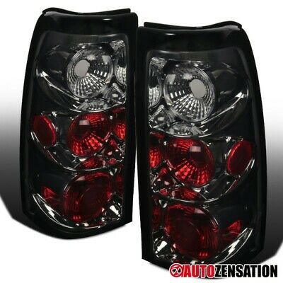 For 2003-2006 Chevy Silverado Smoke Lens Tail Lights Brake Lamps Pair Left+Right