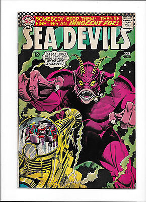 """Sea Devils #31  [1966 Gd]  """"the Day The Seas Went Wild"""""""