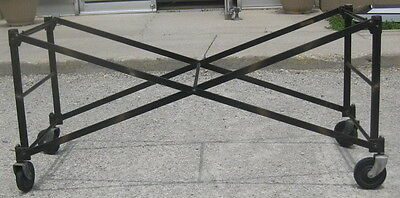 Antique Collapsable Metal Casket Stand/coffin Holder-Wheels-Funeral Home-Morgue