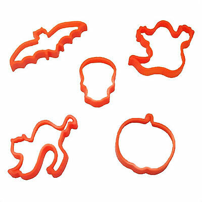 5 Happy Halloween Fun Party Ghouls Ghosts Pumpkin Biscuit Cookie Cutters