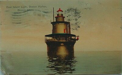 Deer Island Light Boston Harbor, Boston,Massachusetts-Germany-1909