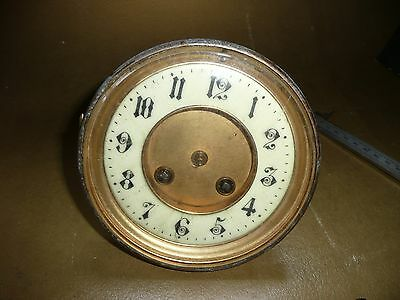 Antique brass mantle clock movement spares repairs Japy Freres