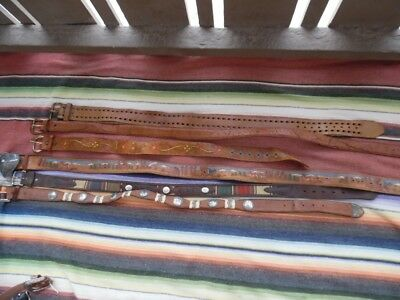Men's Wholesale Lot 26 Western Cowboy Hippy Vintage Mod Tooled Conchos Belts