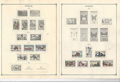 Senegal Collection 1960-1965 on 5 Scott International Pages (Mint Stuck)