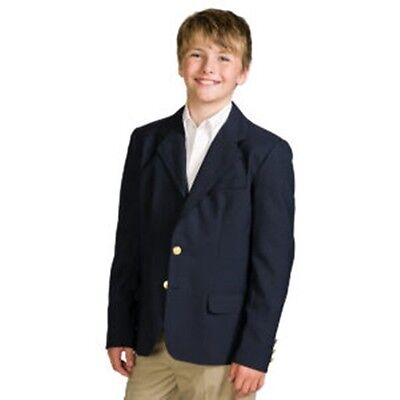 NEW w/tags Boys Navy Blue Blazer sz 16 Elite School Uniform  Machine Wash #3000